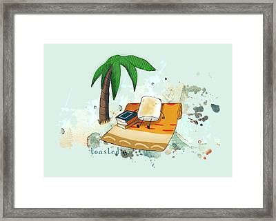 Toasted Illustrated Framed Print by Heather Applegate