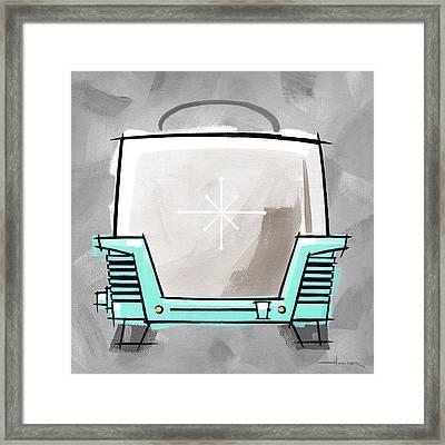 Toaster Aqua Framed Print