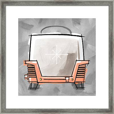 Toaster Coral Framed Print by Larry Hunter