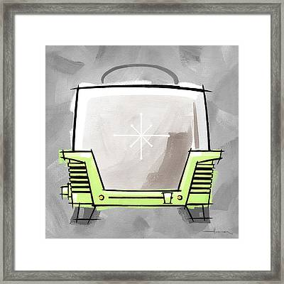 Toaster Lime Framed Print by Larry Hunter
