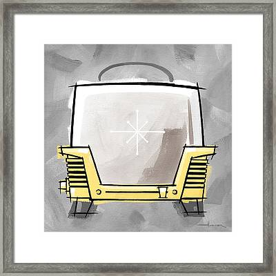Toaster Yellow Framed Print by Larry Hunter