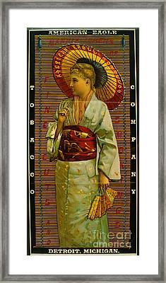 Tobacco Ad 1884 Framed Print