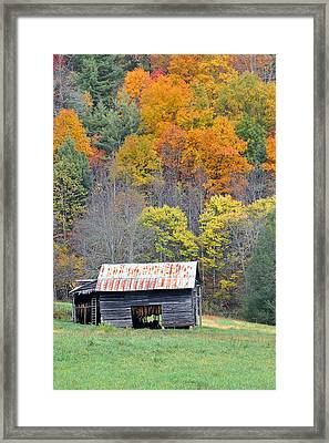 Tobacco Barn Framed Print by Alan Lenk