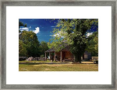 Tobacco Barn Framed Print