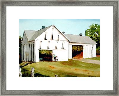 Tobacco Barn Framed Print by Faye Ziegler
