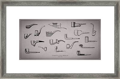 Tobacco Pipe Designs 1900-30 Framed Print