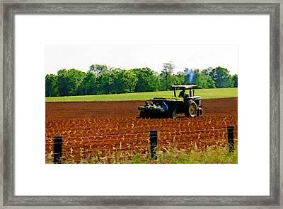 Tobacco Planting Framed Print by Sam Davis Johnson
