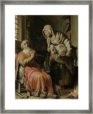 Tobit And Anna With The Kid Framed Print
