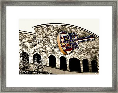 Toby Keiths Bar Framed Print by Karen M Scovill