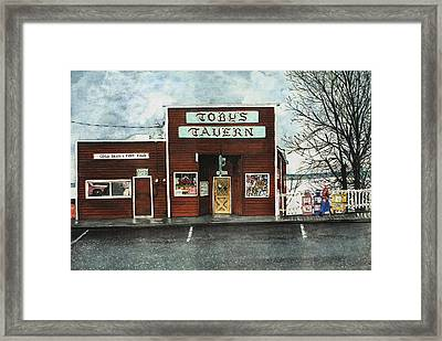 Toby's Framed Print by Perry Woodfin