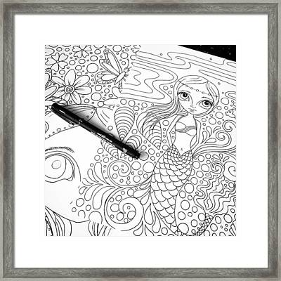 Today: Line Drawing. ✒️ Framed Print by Jaz Higgins