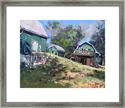 Today Morning At Carter Farms In Norval Framed Print by Ylli Haruni