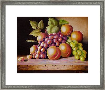 Framed Print featuring the painting Todays Harvest by Gene Gregory