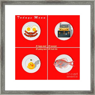 Todays Menu 20150712 Red Framed Print