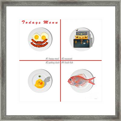 Todays Menu 20150712 Whi Framed Print