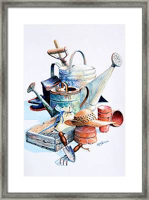 Todays Toil Tomorrows Pleasure II Framed Print