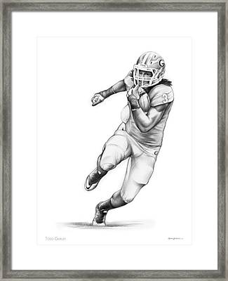 Todd Gurley Framed Print by Greg Joens