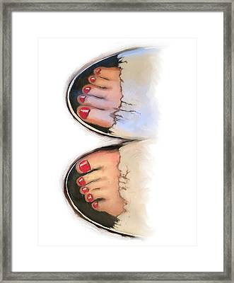 Toes 01 Framed Print