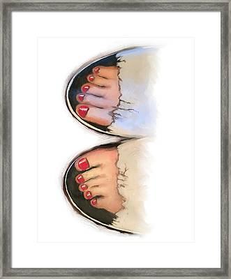 Toes 01 Framed Print