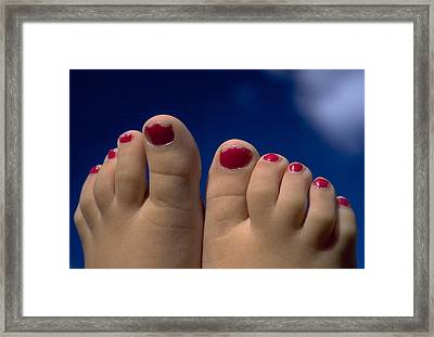 Toes Framed Print by Michael Mogensen