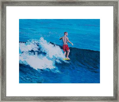 Toes On The Noes Framed Print by Henry Krauzyk