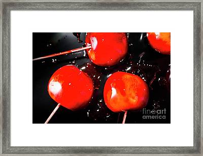Toffee Apple Splash. Fine Art Food Framed Print