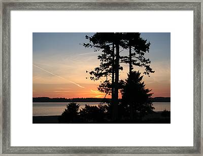 Tofino Sunset IIi Ss 1031 Framed Print by Mary Gaines