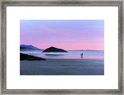 Tofino Sunset Framed Print by Keith Boone