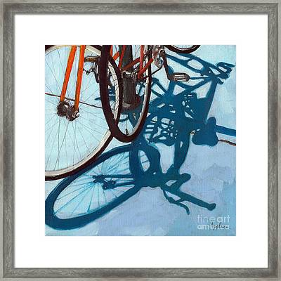 Together - City Bikes Framed Print