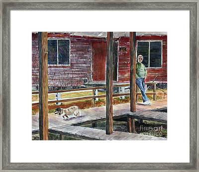 Together Again At The Old Fish Camp Framed Print