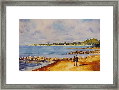 Together-at-georgian-bay Framed Print by Nancy Newman