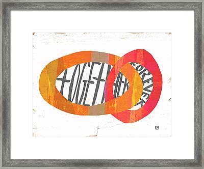 Together Forever Framed Print by Lisa Weedn
