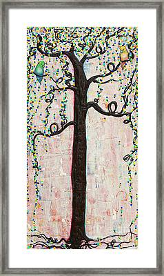 Framed Print featuring the mixed media Together Forever by Natalie Briney