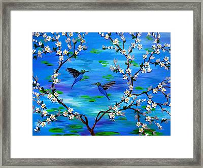 Together In Love Framed Print by Cathy Jacobs