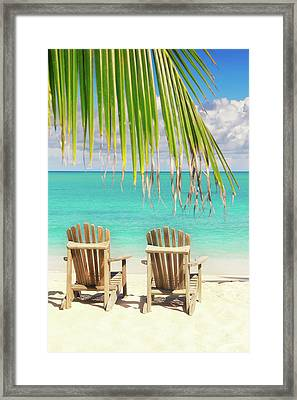 Together In Paradise Framed Print by Elena Seychelles