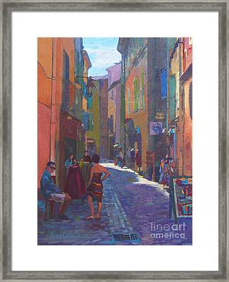 Together In Pezenas Framed Print by Allison Coelho Picone