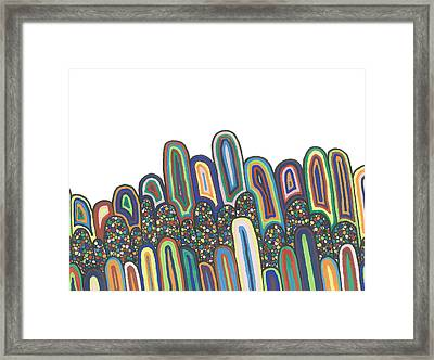 Framed Print featuring the drawing Together by Jill Lenzmeier