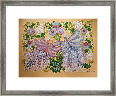 Together Framed Print by Kateryna Wiman