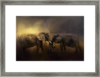 Together Through The Storms Framed Print by Jai Johnson
