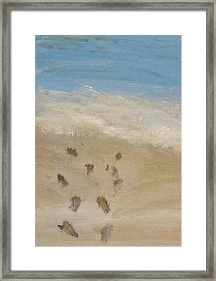 Framed Print featuring the painting Together To The Waves by Trilby Cole