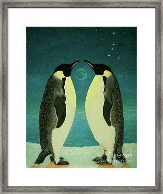 Together Under The Moon Framed Print