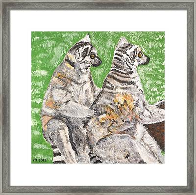 Together Framed Print by Valerie Ornstein
