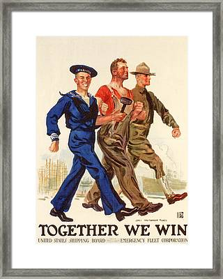 Together We Win Framed Print by American School