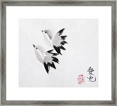 Together We'll Fly Side By Side Framed Print by Oiyee At Oystudio
