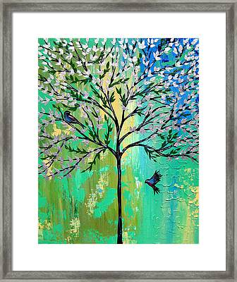 Together With You Framed Print by Cathy Jacobs