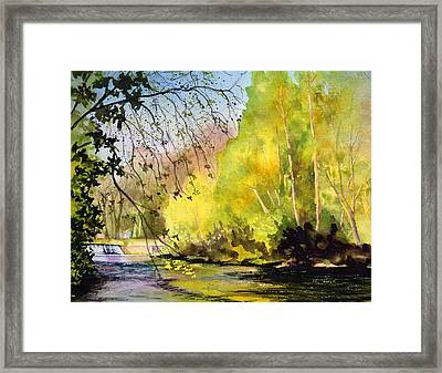 Tohickon Creek Bucks County Pa Framed Print by Paul Temple