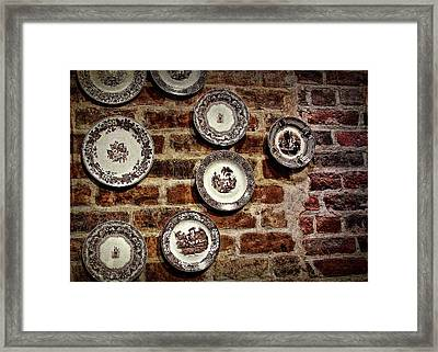Tiole Plates Framed Print by JAMART Photography