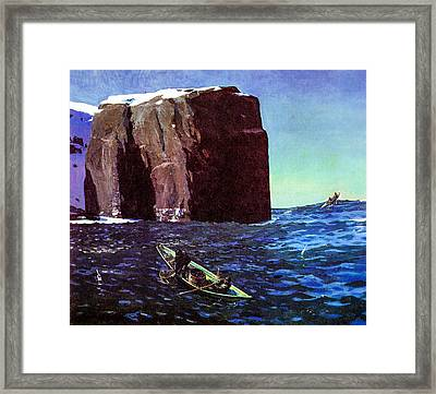 Toileers Of The Sea 1907  Framed Print by Rockwell Kent