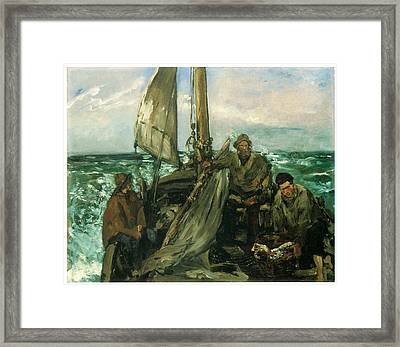 Toilers Of The Sea Framed Print