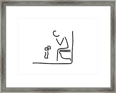Toilet Digestion Irritant Bowel Framed Print by Lineamentum